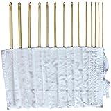 Ensemble de 14 crochets afghans en bambou de 34cm/14inch avec un étui gratuit par Curtzy TM