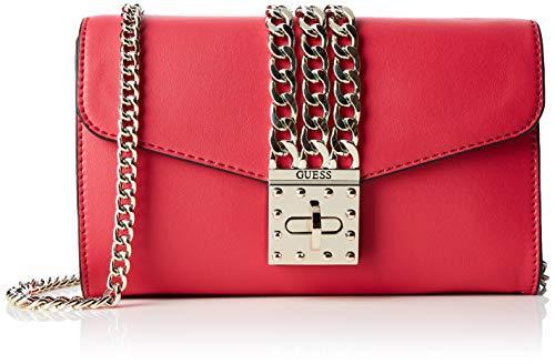 51916920fb Guess Prisma Clutch, Borsa a Tracolla Donna, Nero (Red), 23x13x4 cm