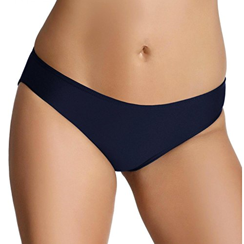 Aquarti Damen Bikini Hose Unifarben Gemustert Bikinislip, Farbe: Dunkelblau, Größe: 40