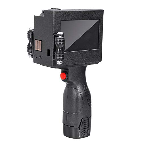 ikettendrucker, 600 DPI Intelligenter USB-QR-Code-Inkjet-Etikettendrucker, LED-Touchscreen-Codiermaschine - Schwarz ()