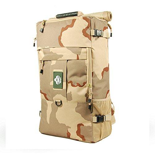 Skysper® 50L zaino di alta qualità resistente all'acqua viaggio Escursionismo dello Zaino 60L-062 camouflage