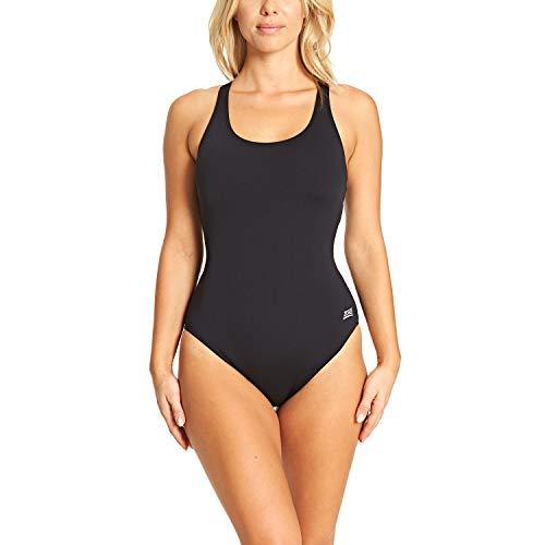 Zoggs Damen Badeanzug Cottesloe Powerback, Schwarz (Black), DE 42 (Herstellergröße: 16)