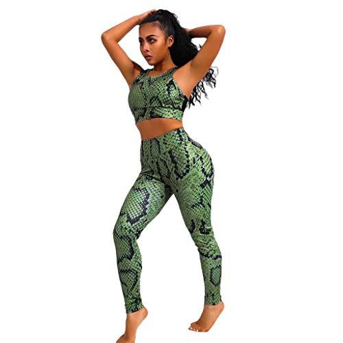 IFOUNDYOU Jogginganzüge für Frauen Sport Anzug Drucken Yoga Set Floral Fitness Frauen Running Set Gym Fitness Anzug Sport Top + Legging Sportswear -