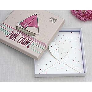 Geldgeschenk zur Taufe, Geld Verpackung, Glückwunschkarte zur Taufe für Junge und Mädchen PERSONALISIERT - Boot - Sailing in Love