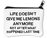 Life Doesnt Give Lemons Anymore Car Sticker Portefeuille À Glissière Porte-Monnaie