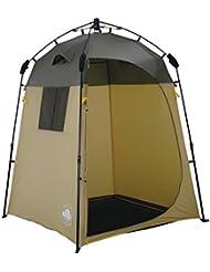 Lumaland ducha de campo tiendas pabellón para con sistema QuickUp de montaje marrón