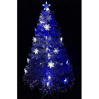 60 pulgadas (5FT) de fibra óptica transparente LED azul árbol de navidad con las luces / LED blanco