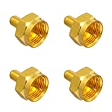 4X F-Abschlusswiderstand 75 Ohm F-Kupplung Sat Vergoldet breite Mutter HB-Digital