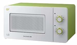 Daewoo QT2 Compact Microwave Oven, 600 Watt, 14 Litre, White/Lime Green