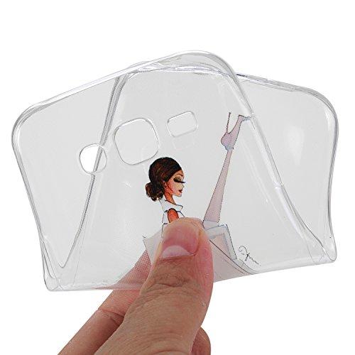 Coque iPhone 6 Plus/6S Plus Silicone Gel Housse [avec Gratuit Protections D'écran]CaseHome Élégant Blanche en Caoutchouc Souple Etuis Ultra Mince Parfait Ajustement Flexible Pare-chocs Doux Résistant  Belle Fille