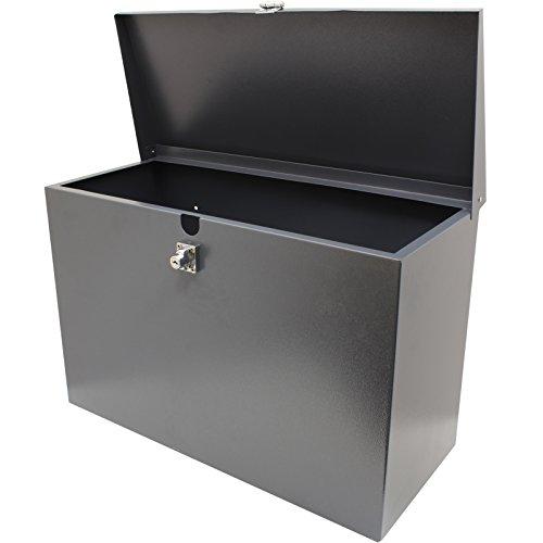 Hardcastle - Abschließbare Paketbox aus Metall - Groß - Grau -
