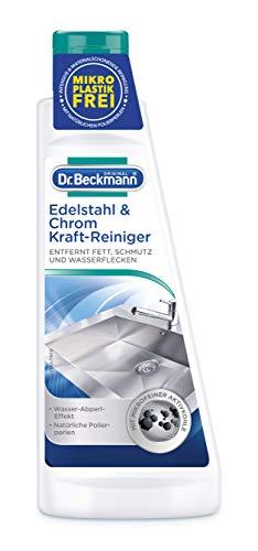 Dr. Beckmann Edelstahl & Chrom Kraft-Reiniger, Mit Aktivkohle, 2er Pack (2 X - Edelstahlreiniger Grill Für
