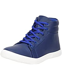 Vanni Obsession Synthetic Leather Boot Shoes For Men's And Boys Blue Colour