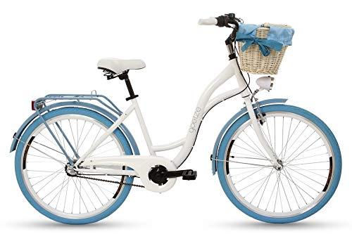 Goetze Damen Colours 26 Zoll 3B Bmx-räder, Weiß/Blau, M (Rad Weiß Und Blau-bmx)
