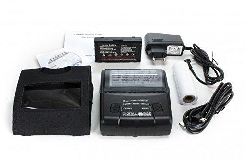 Neue Version V2! Tragbarer Bluetooth Thermodrucker für 80mm Rolle inkl. Gürteltasche! (Bondrucker POS Drucker Wireless Kassendrucker Drucker Thermo Quittungsdrucker Thermal Dot Receipt Printer)