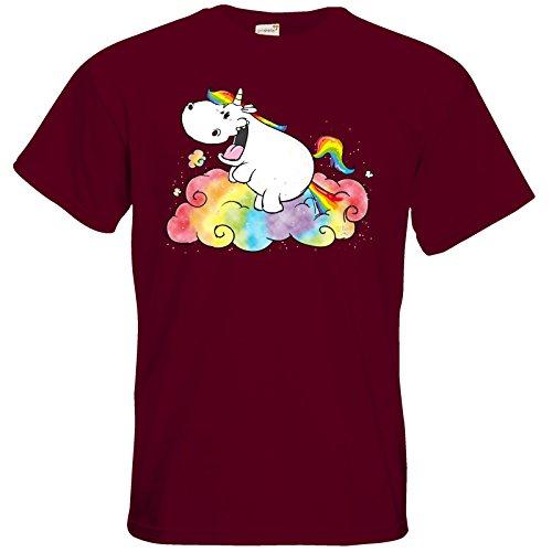 getshirts - Pummeleinhorn - T-Shirt - Einhornpups Burgundy