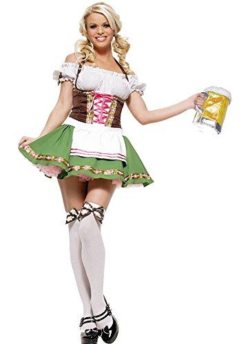 Fiestas de Halloween Oktoberfest Criada Cerveza Uniforme Traje de Cosplay Naughty Sexy Disfraces con 5 Estilos, Estilo-5