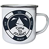 Nuevo Sol Descanso Mar Playa Viajes Retro, lata, taza del esmalte 10oz/280ml l952e