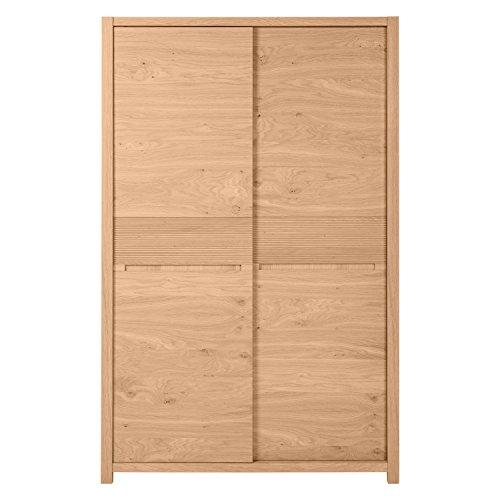 Keo austral armoire 2 portes coulissantes bois 128 x 204 for Porte coulissante 60 x 96