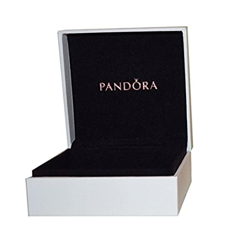 Pandora Original Black Interior Jewellery Gift Box - 9cm x 9cm x 4cm - Accessori Gioielli e Scatole