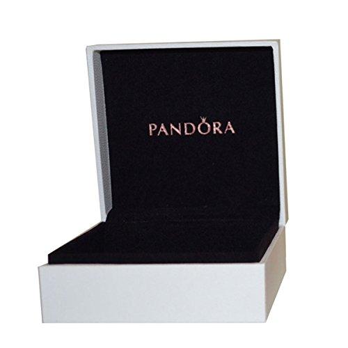 Pandora Unisex-Schmuckkasten Schmuckbox weiß, Innenfutter schwarz 9,0 x 9,0 x 4,0 Leder weiß - PAU994SW
