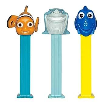 Pez Nemo chiffre modèles de collecte différents: Nemo, Dori, Bruce, .. avec 3 Pezpackungen