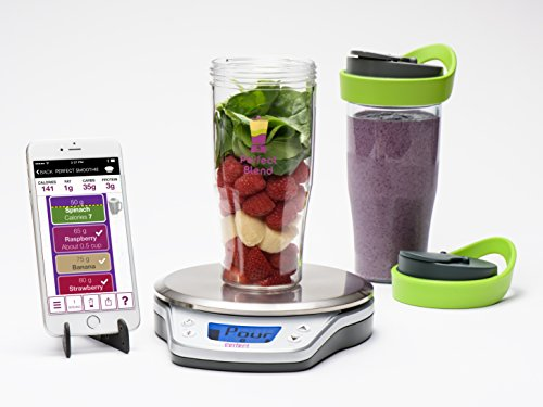 Perfect Blend PRO Smart Scale + App-Track nutrition and make delicious smoothies