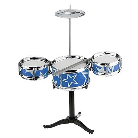 Mini-instruments De Percussion Jazz De Batterie Mignon Mis Jouets Musicaux Kit Bleu
