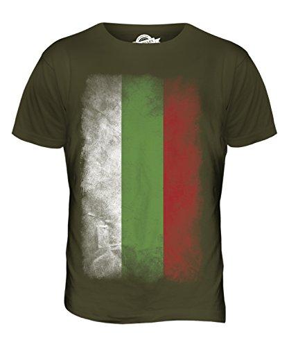 CandyMix Bulgarien Verblichen Flagge Herren T Shirt Khaki Grün