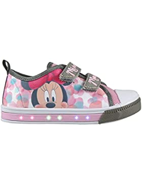 Cerdá Zapatillas con Luces Minnie Mouse - Bambas de Lona con Luz Disney Minnie. Color Rosa + Regalo