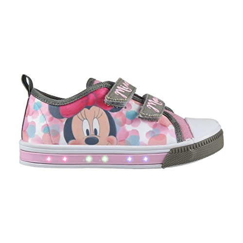 Cerd-Zapatillas-con-Luces-Minnie-Mouse-Bambas-de-Lona-con-Luz-Disney-Minnie-Color-Rosa-Regalo