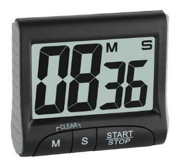 TFA timer elettronico + cronómetro incluyendo batería