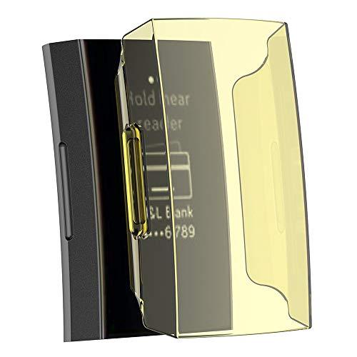 Cywulin Displayschutzfolie für Fitbit Charge 3, schlankes weiches TPU, Rundumschutz, Kratzfest, transparent, HD durchsichtig, stoßfest, für Damen und Herren Gelb gelb