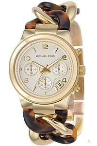 Reloj de mujer Michael Kors MK4222 de cuarzo, correa de resina color oro de Michael Kors