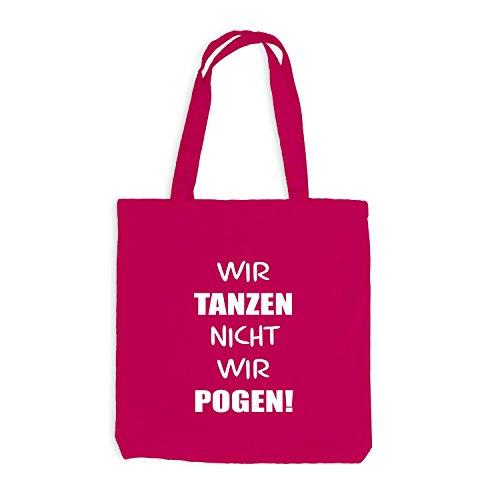 Jutebeutel - Wir tanzen nicht, wir Pogen! - Dance Pogo Pink