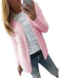 25d0ebc9d249dc Autunno Inverno Donne Cardigan Casual Manica Lunga Maglione Cappotto Cime  Sweater Giacche Moda Plush Pullover Giacca