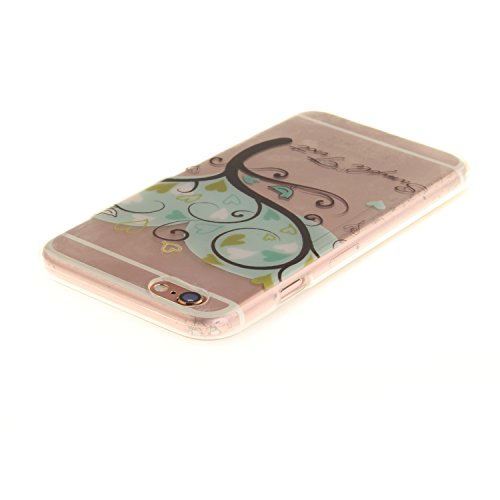iPhone 6S Hülle,iPhone 6 Hülle,iPhone 6 6S Silikon Hülle [Kratzfeste, Scratch-Resistant], Cozy Hut iPhone 6 6S (4,7 Zoll) Hülle TPU Case Schutzhülle Silikon Crystal Kirstall Clear Case Durchsichtig, F Die Giving Tree