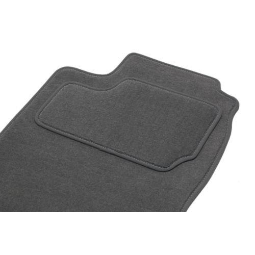 Fußmatten eTile passgenau für R20ARRIERES in 2Teile (von 10/75–12/83)–2Road–grau–Teppich Tuft, L Aspekt Velours, 550g/m2+ SS Schicht 1950G/M2+ Band Textil High-End (1401 Teppich)