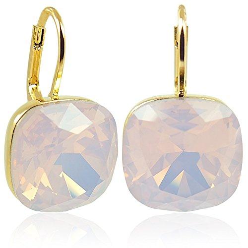 Ohrringe mit Kristallen von Swarovski® Gold Rosa Rose Water Opal NOBEL - Opal Gold Und