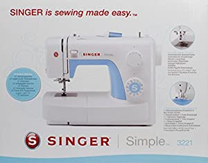 Singer 043224simple 3221Máquina de coser + Bolsa de transporte cosido a mano color blanco de Singer