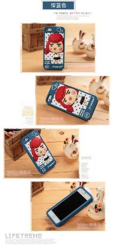 & Apple iPhone 5/5s/coque de protection en Silicone (Funng l'école Bleu foncé)