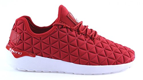 Asfvlt Speed, Baskets Basses Mixte Adulte Rouge - Rouge