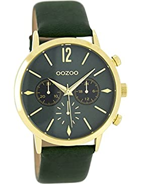 Oozoo Damenuhr mit Lederband 40 MM Tannengrün/Tannengrün C8246