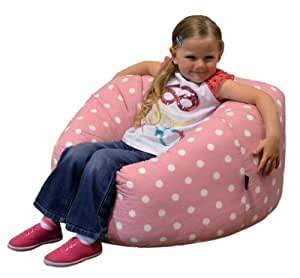 gilda childrens bean bag pink spots cotton ideal kids beanbag chair great extra seating other. Black Bedroom Furniture Sets. Home Design Ideas