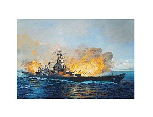 Revell Modellbau 05129 - Battleship U.S.S New Jersey 1982 im Maßstab 1:350