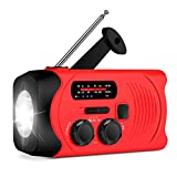 Wind Up Solar Radio,Hand Crank Emergency Radio Dynamo Radio with Flashlight Torch,Rechargeable USB