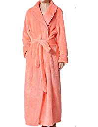 Seaoeey Man Bathrobe Autumn and Winter Thick Flannel Nightgown Long Warm Pajamas  Home Service Robes f86dec25d