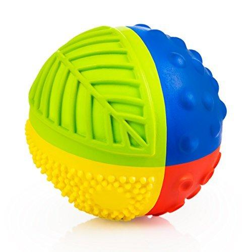 CaaOcho 7003 - Sensory Ball Regenbogen - Bio Motorikspielzeug aus Naturkautchuk, 8 cm