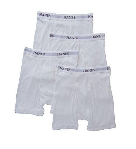 Hanes Platinum Premium Boxer Briefs - 4 Pack (Y692) L/White White