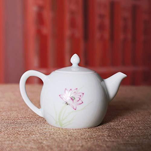Keramik Kleine Wasserkrug Teekanne Jingdezhen Keramik Handgefertigt Handgemalt Pastell Lotus Blume...